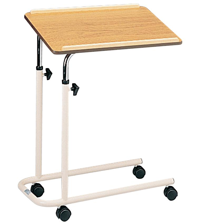 Overbed table with castors-0