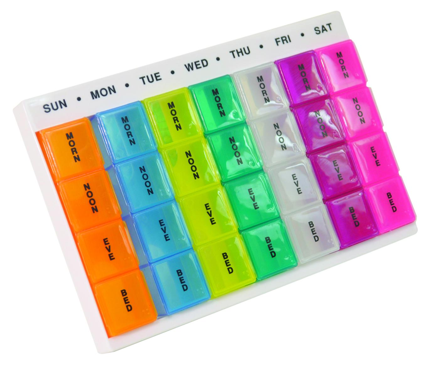 Colourful Week Day Multi Pill Dispenser-0
